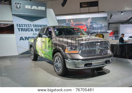 Ram 1500 Green Truck Of The Year 2015 On Display