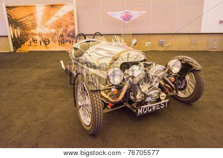 Morgan 3 Wheeler Car On Display