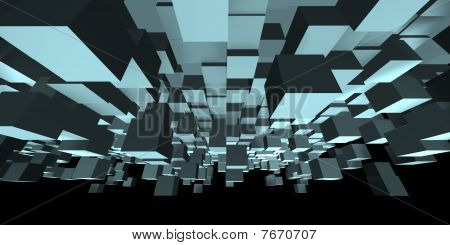 An abstract cube design - a 3d image