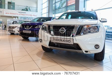 Samara, Russia - November 16, 2014: Inside In The Office Of Official Dealer Nissan.  Nissan Is A Jap