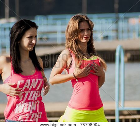 Attractive Women's Working During Shooting Music Video Clip