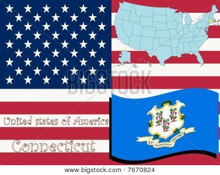 Ilustración del estado de Connecticut