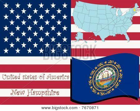 Nueva Hampshire estado ilustración
