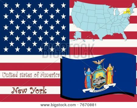 Ilustración de estado de Nueva York