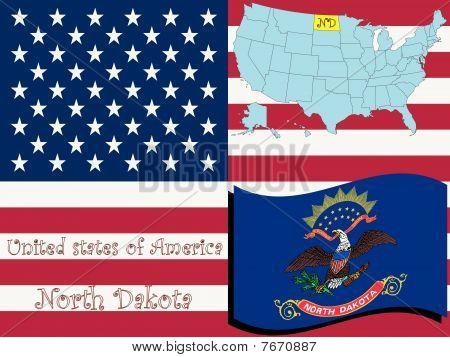 Ilustración del estado de Dakota del norte