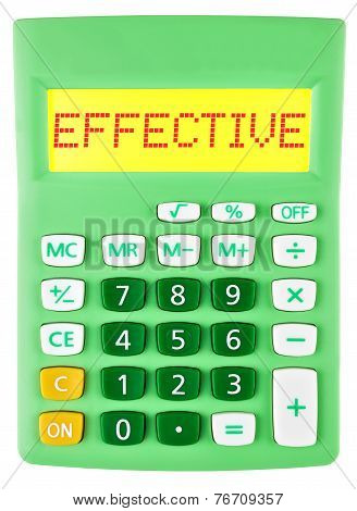 Calculator With Effective On Display