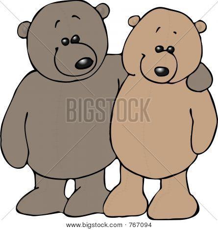 Amigos del oso de peluche