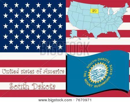 Ilustración del estado de Dakota del sur