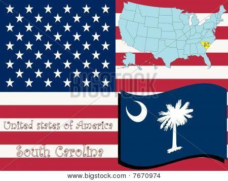 Ilustración del estado de Carolina del sur