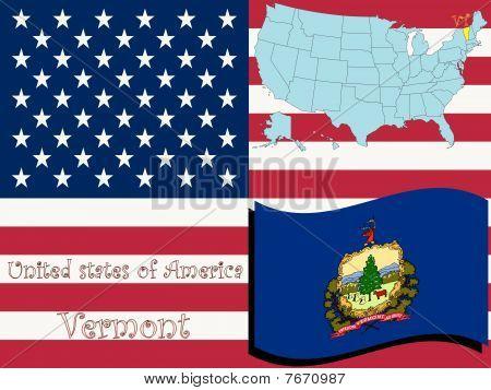 Ilustración del estado de Vermont