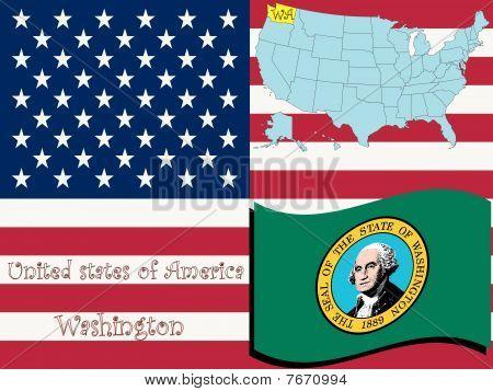 Ilustración del estado de Washington