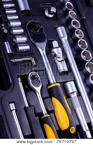 Essential Tools For Everyone. Keys, Screws And Hammers