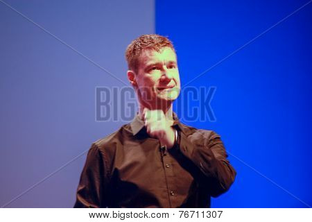 Berlin, Germany - November 11, 2014: Sap Head Of Products And Innovation Technology Bjorn Goerke Del