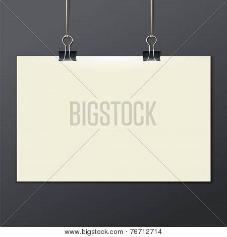 Vector template of a paper sheet -poster, picture frame