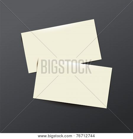 template white  Business card
