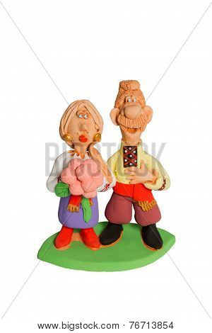 Figurine Couple Of Men And Women