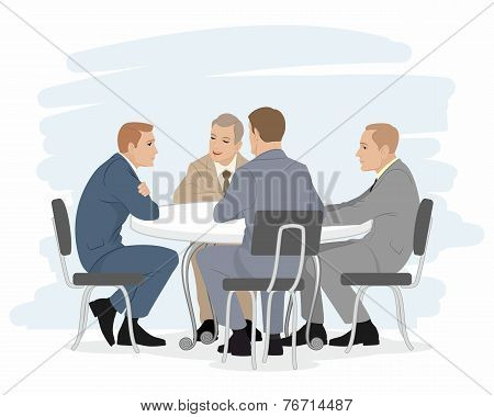 Four Businessmen Negotiations