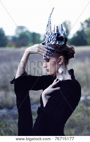 Sad Witch in a crown