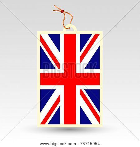 Vector Simple British Price Tag - Symbol Of Made In United Kingdom Of Great Britain - Uk - English L