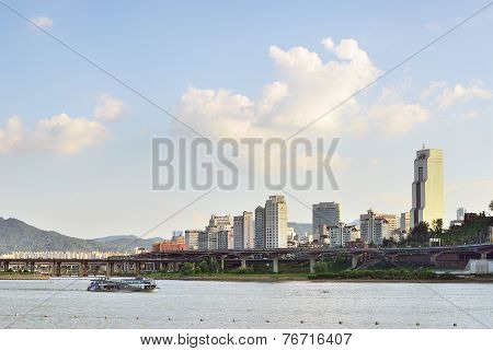 Seoul, Korea - August 10, 2008: View Of Han-river And Gangnam In Seoul, Korea