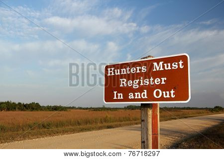 Hunting Sign Florida Everglades
