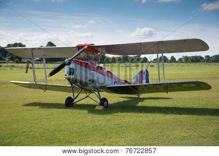 Vintage Dh82A Tiger Moth Biplane