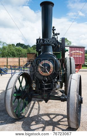 Vintage 1914 Clayton And Shuttleworth Covertible Traction Engine