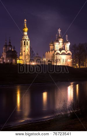Vologda at night