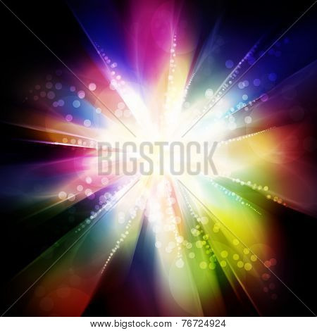 Fantastic Colorful Light Explosion