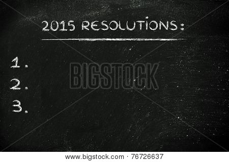 2015 Resolutions With Copyspace To Add Customised Text
