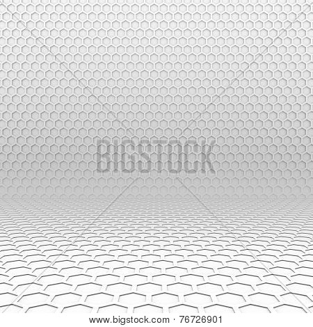 Light Hexagon Perspective Background