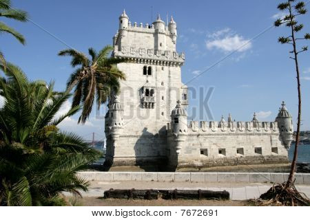 view on tower Belem, Portugal