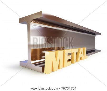 Metallic Joists On A White Backgroun