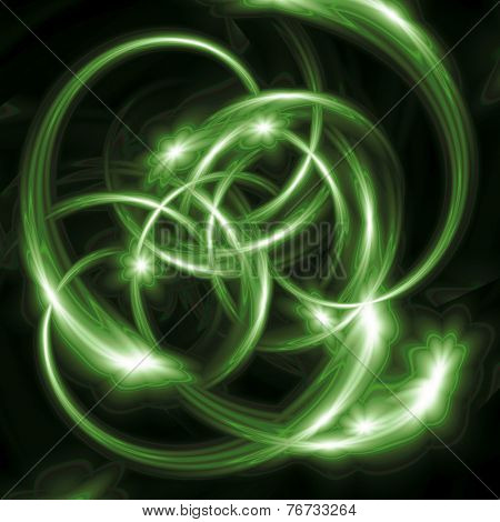 Abstract green line designs