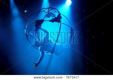 Aerialist Shows Acrobatic Feats