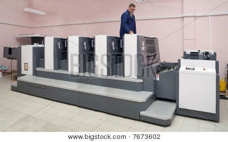 Printer Working At  Four-section Offset Machine