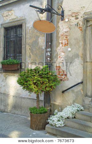 Vintage Building's Facade