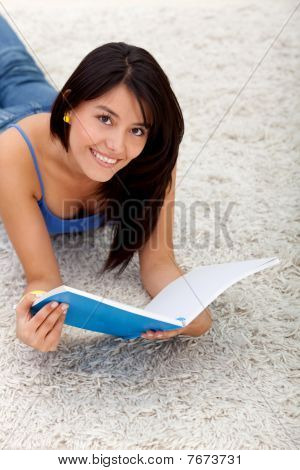 Student Lying On The Floor