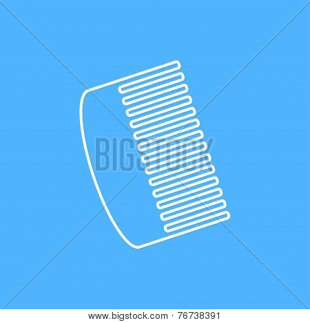 Vector Comb Icon. Eps10
