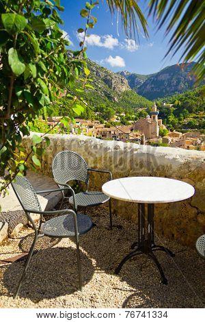 Beautiful View Of Valldemossa City, Mallorca, Spain