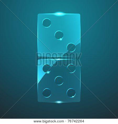 Vector Glass Domino Icon