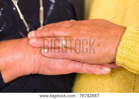 Elderly Women Hands