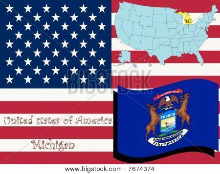Ilustración del estado de Michigan