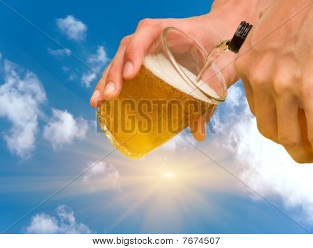 Hands  Person  Pouring  Beer