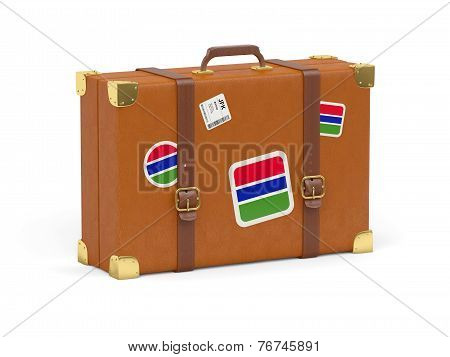 Suitcase With Flag Of Gambia