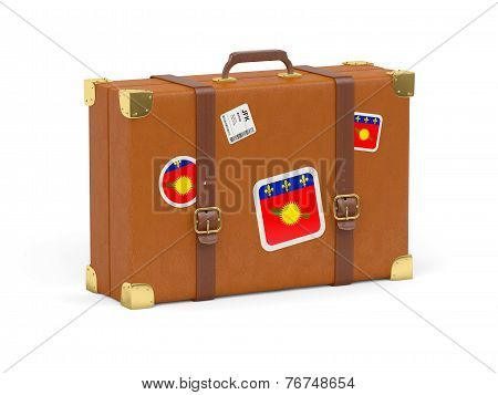 Suitcase With Flag Of Guadeloupe