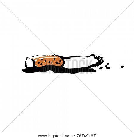 Cigarette butt illustration