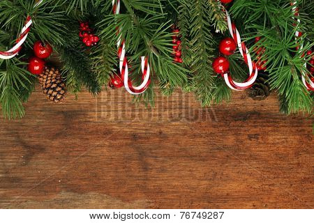 Christmas tree branches background