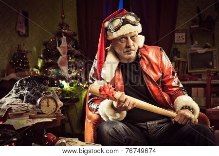 Bad Santa With Bad Christmas Gift