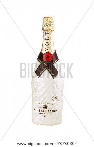 Hayward, CA - November 23, 2014: 750mL bottle of  Moet Chandon Champagne
